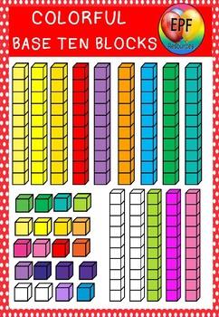 Base ten graphics clipart(free sample)