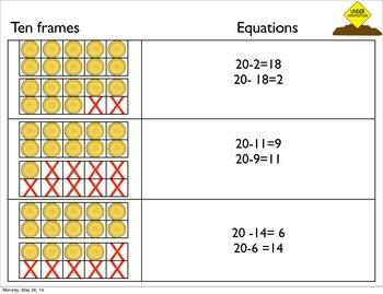 Base ten materials #'s 11-19
