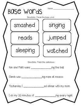 Base words