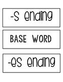 Base words and -s & -es endings