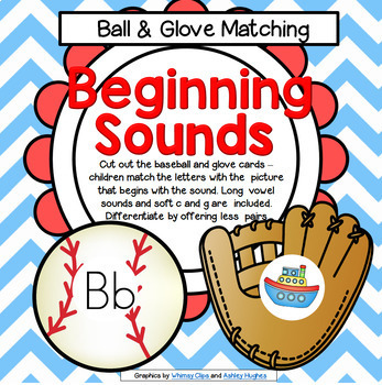Baseball Beginning Sounds Center or Flashcards