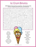Ice Cream Word Search Puzzle