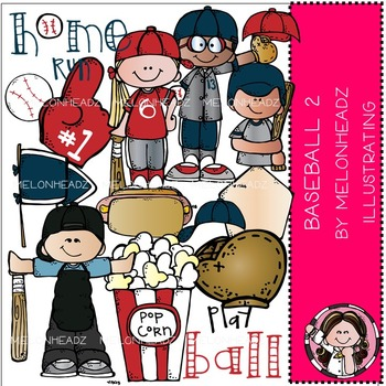 Melonheadz: Baseball clip art Part 2 - COMBO PACK