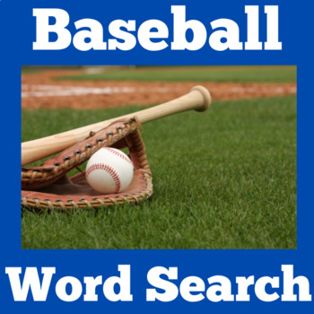 Baseball Theme   Baseball Activity   Baseball Word Search