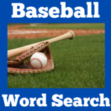 Baseball | Worksheet Activity | Word Search | 1st 2nd 3rd