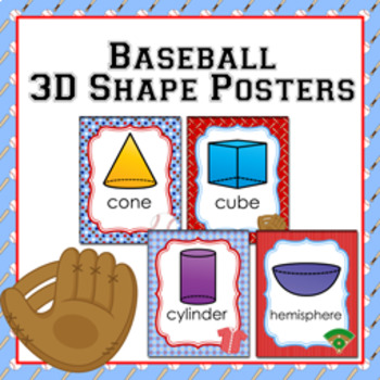 Baseball 3D Shape Posters