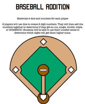 Baseball Addition Game