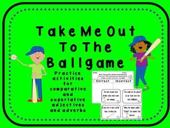 Baseball Adjectives and Adverbs