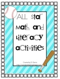 Baseball All Star Math and Literacy Activities