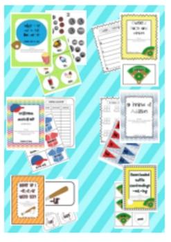 Baseball All Star Math and Literacy Activities