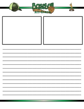 Baseball All-Stars Mini Research Fold-Ems, GOs and Writing Templates