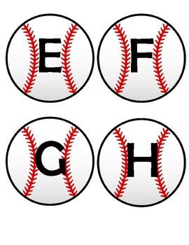 Baseball Alphabet Flashcards