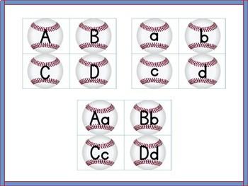 Baseball Alphabet Letter Flashcards