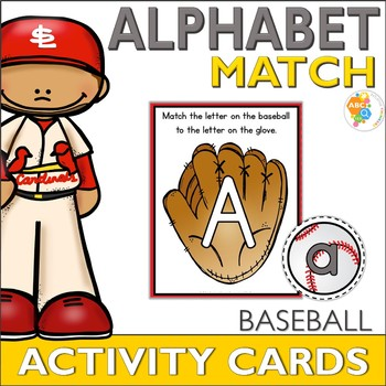 Baseball Alphabet Match Activity Cards