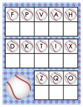 Baseball Alphabet Matching Activity
