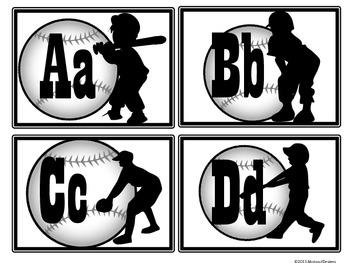 Baseball Alphabet (Word Wall Tags)