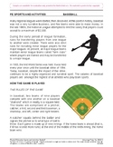 Baseball: An Academic Learning Packet