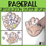 Baseball Articulation Stuffer Craft | Spring Articulation