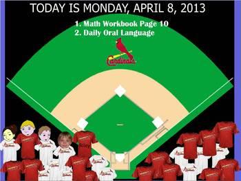 Baseball Attendance Flipchart