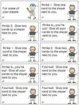 Baseball Bang! Sight Word Phrases game-1st 100