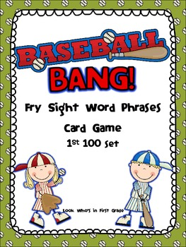 Baseball Bang! Sight Word Phrases game-1st 100