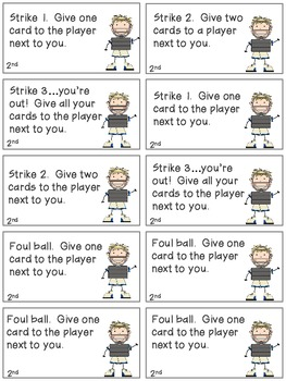 Baseball Bang! Sight Word Phrases game--2nd 100