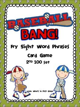 Baseball Bang! Sight Word Phrases game--2nd 100