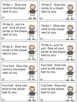 Baseball Bang! Sight Word Phrases game-5th 100