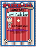 Baseball Base Ten Tiered Math Tub