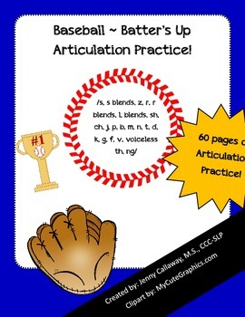 Baseball ~ Batter's Up Articulation Practice!