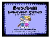 Baseball Behavior Card - Freebie