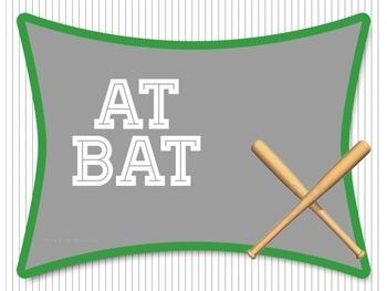 Baseball Behavior Clip Chart