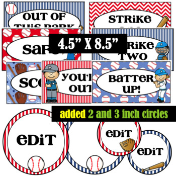 Baseball Behavior Clip Chart- Editable