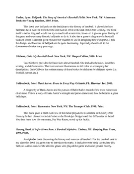 Baseball Bibliography