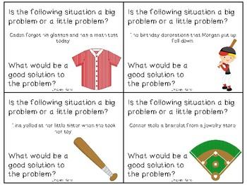 Baseball Big Problems, Little Problems: A Social Skills Activity