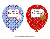 Baseball Birthday Balloons ( 4 different designs )