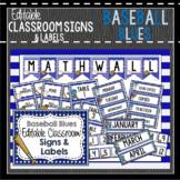 Baseball Blues Decor: Editable Classroom Signs & Labels