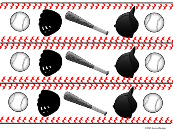 Baseball Border (Black and White)