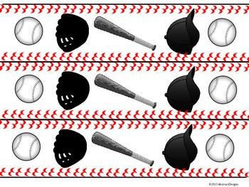 Baseball Border (Black and White)
