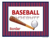 Baseball Border (Red, White and Blue)
