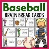 Baseball Brain Break Cards