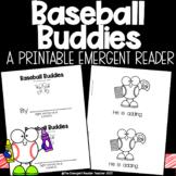 Baseball Buddies Emergent Reader