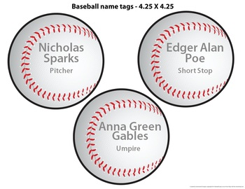 Baseball Theme - Bulletin Border, Editable Banner & Name Tags, & Editable Poster