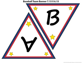 Baseball Theme - Bulletin Border,  Banner, Name Tags, & Poster (Editable)