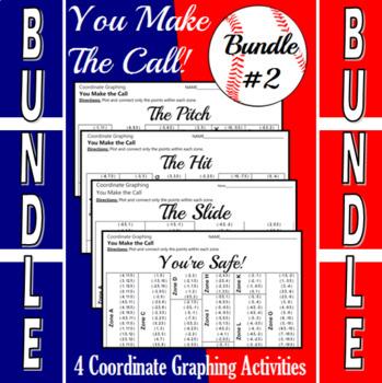 Baseball Bundle #2 - 4 Baseball Coordinate Graphing Activities