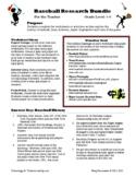 Baseball Bundle: Internet Research