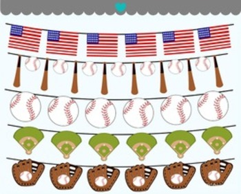 Baseball banners clipart commercial use