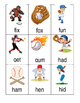 Baseball CVC flashcards