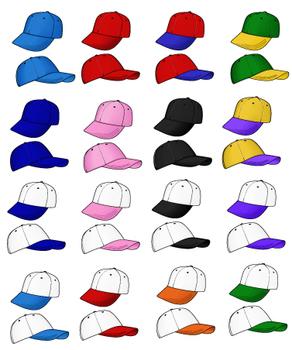 Baseball Cap Clip Art over 30 versions!