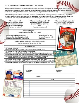 be20b3765ed1 Baseball Card by Whitney Griffin